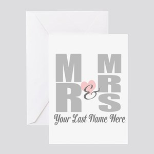 Mr and Mrs Love Greeting Cards
