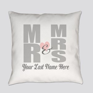 Mr and Mrs Love Everyday Pillow