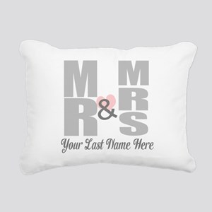 Mr and Mrs Love Rectangular Canvas Pillow