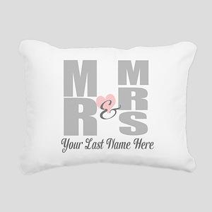 Mr and Mrs Love Rectangular Canvas Pillow