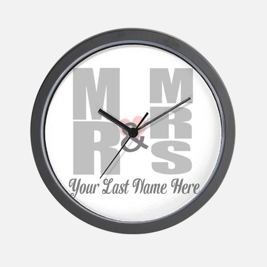 Mr and Mrs Love Wall Clock