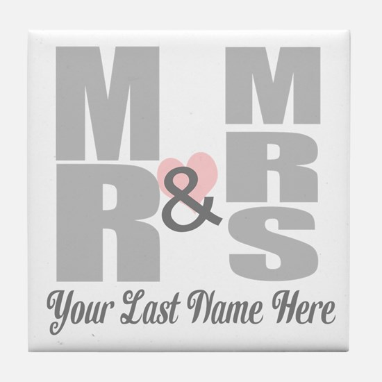 Mr and Mrs Love Tile Coaster