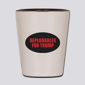 Deplorables for Trump Shot Glass