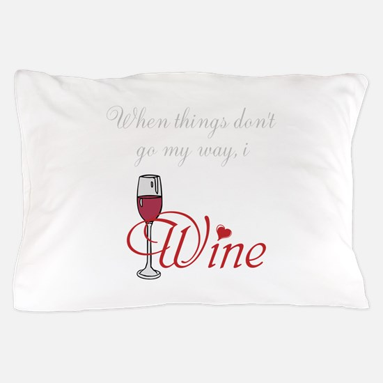 I Wine Pillow Case