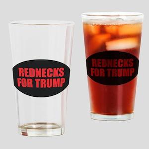 Rednecks for Trump Drinking Glass