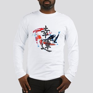 "Kanji ""Good Fortune"" w/ Koi Long Sleeve T-Shirt"