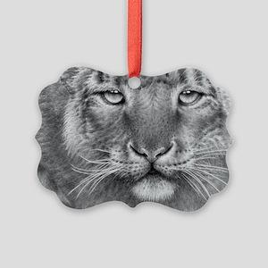 Snow Leopard Picture Ornament