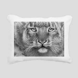 Snow Leopard Rectangular Canvas Pillow