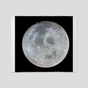 Moon from Apollo 11 Throw Blanket