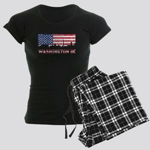 Washington DC American Flag Skyline Pajamas