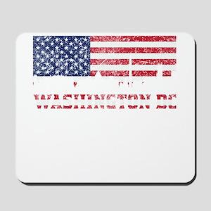 Washington DC American Flag Skyline Mousepad