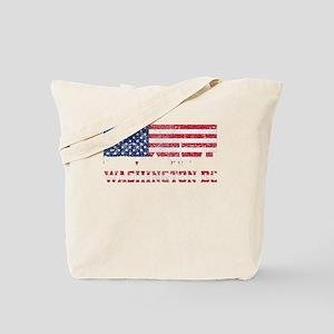 Washington DC American Flag Skyline Tote Bag
