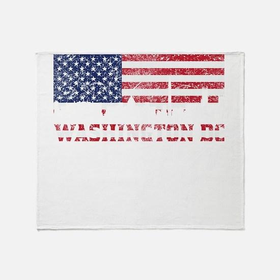 Washington DC American Flag Skyline Throw Blanket