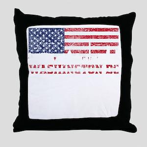 Washington DC American Flag Skyline Throw Pillow