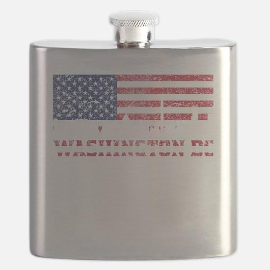 Washington DC American Flag Skyline Flask