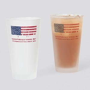 Washington DC American Flag Skyline Drinking Glass