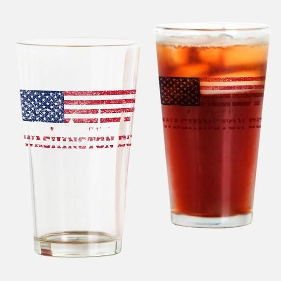 Washington DC American Flag Skyline Drinking Glass