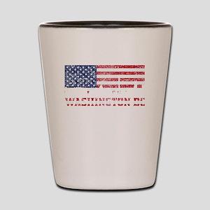 Washington DC American Flag Skyline Shot Glass