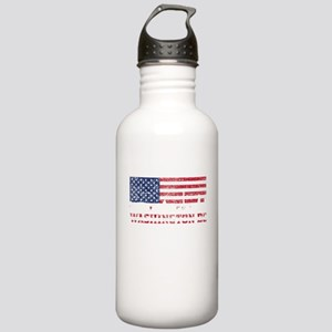 Washington DC American Flag Skyline Water Bottle