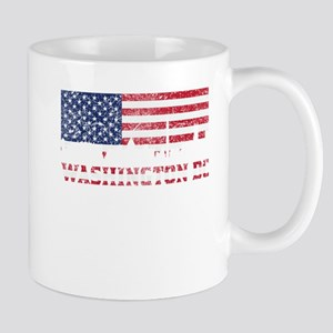 Washington DC American Flag Skyline Mugs