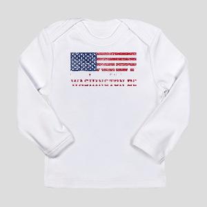 Washington DC American Flag Skyline Long Sleeve T-