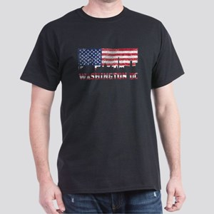 Washington DC American Flag Skyline T-Shirt