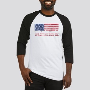 Washington DC American Flag Skyline Baseball Jerse