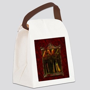Egyptian women on a frame Canvas Lunch Bag
