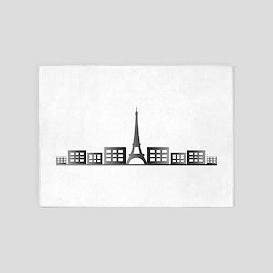 paris skyline 5'x7'Area Rug