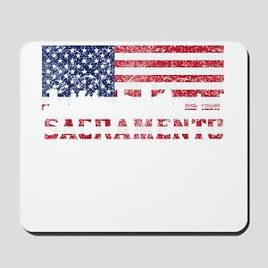 Sacramento CA American Flag Skyline Mousepad