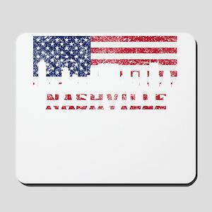 Nashville TN American Flag Skyline Mousepad