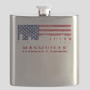 Nashville TN American Flag Skyline Flask