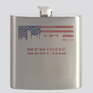 Memphis TN American Flag Skyline Flask