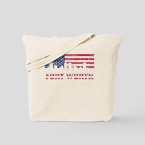 Fort Worth TX American Flag Skyline Tote Bag