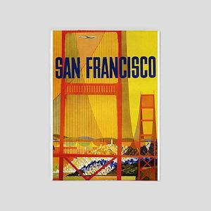 Golden Gate, San Francisco, Vintage 5'x7'a