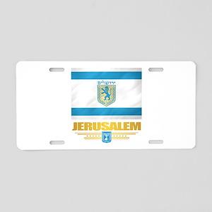 Jerusalem Flag Aluminum License Plate