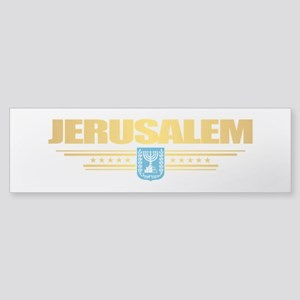 Jerusalem Flag Bumper Sticker