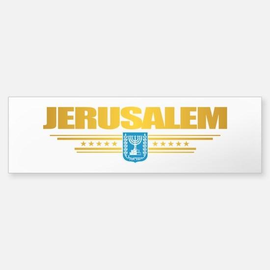 Jerusalem Flag Bumper Bumper Bumper Sticker
