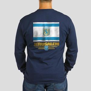Jerusalem Flag Long Sleeve T-Shirt