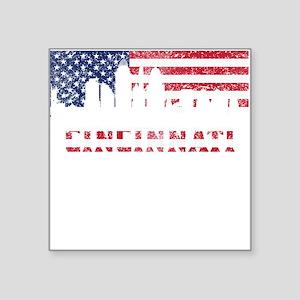 Cincinnati OH American Flag Skyline Sticker