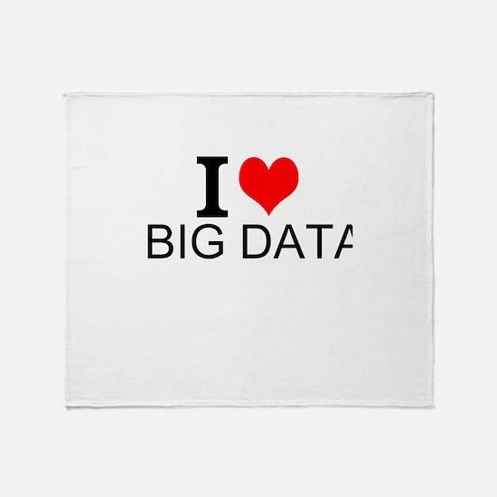 I Love Big Data Throw Blanket