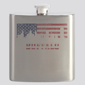 Buffalo NY American Flag Skyline Flask