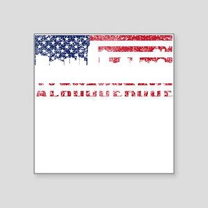 Albuquerque NM American Flag Skyline Sticker