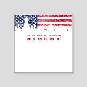 Albany NY American Flag Skyline Sticker