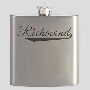 Richmond Heart Logo Flask