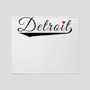 Detroit Heart Logo Throw Blanket