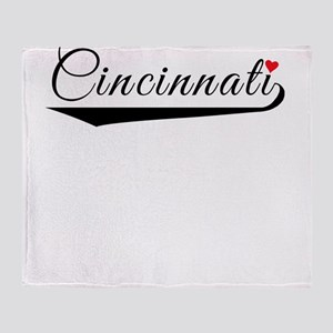Cincinnati Heart Logo Throw Blanket