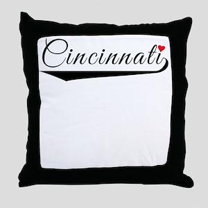 Cincinnati Heart Logo Throw Pillow