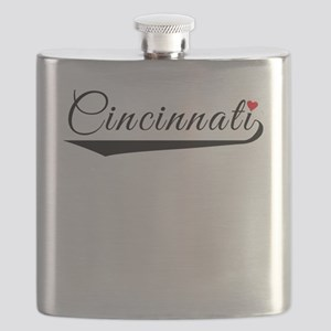 Cincinnati Heart Logo Flask