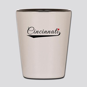 Cincinnati Heart Logo Shot Glass